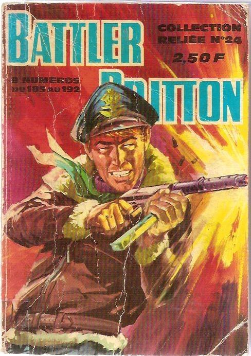 Couverture de Battler Britton (Imperia) -Rec24- Collection Reliée N°24 (du n°185 au n°192)