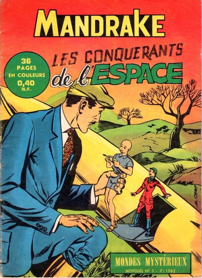 Couverture de Mandrake (1re Série - Remparts) (Mondes Mystérieux - 1) -1- Les conquérants de l'espace