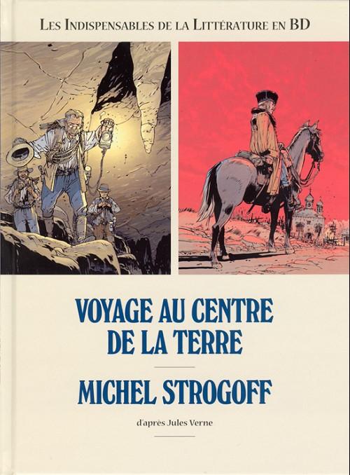 Couverture de Les indispensables de la Littérature en BD -FL04- Voyage au centre de la Terre / Michel Strogoff