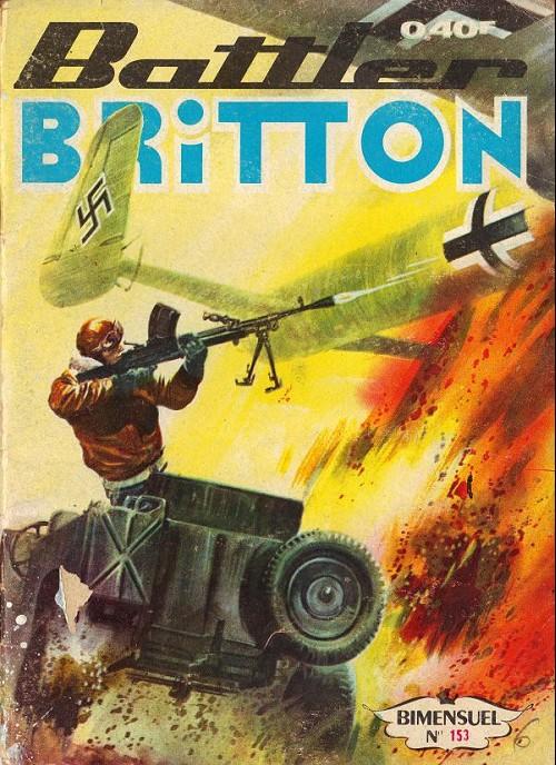 Couverture de Battler Britton -153- Dernier courage - Les Prisons de Poitiers - Les Loups - Les Péniches