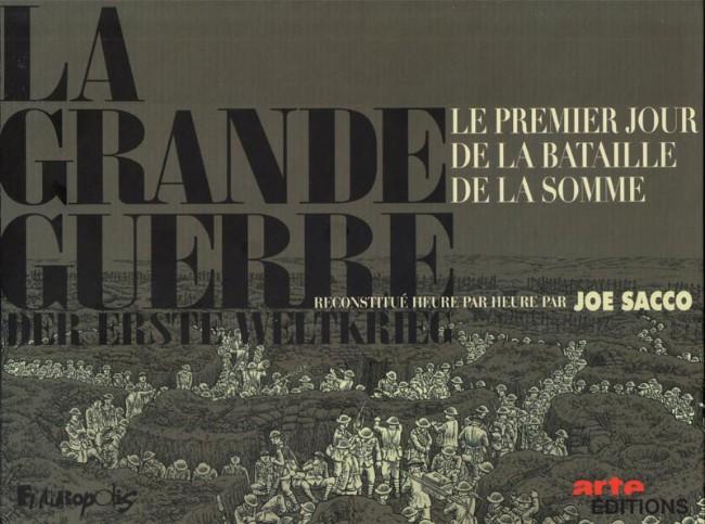 Couverture de La grande Guerre (Sacco) - Le premier jour de la bataille de la Somme