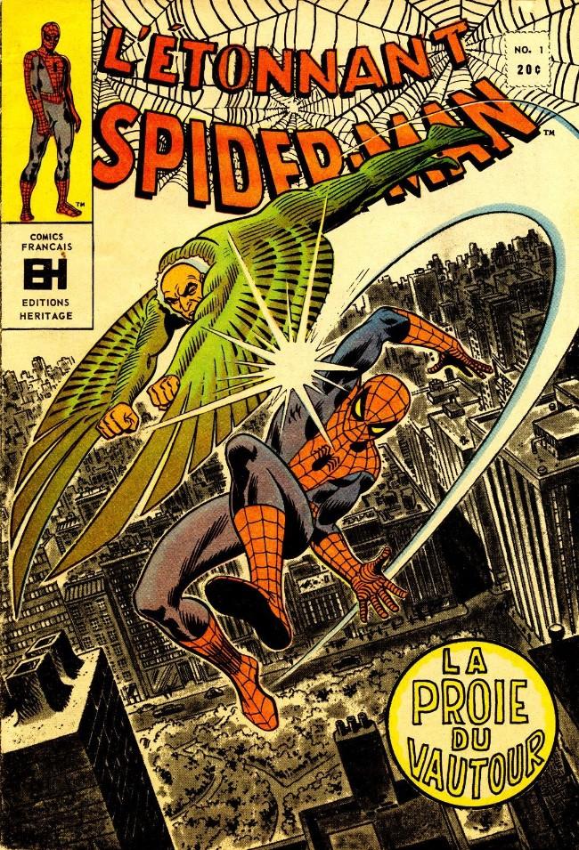 Couverture de L'Étonnant Spider-Man (Éditions Héritage) -1- La proie du vautour