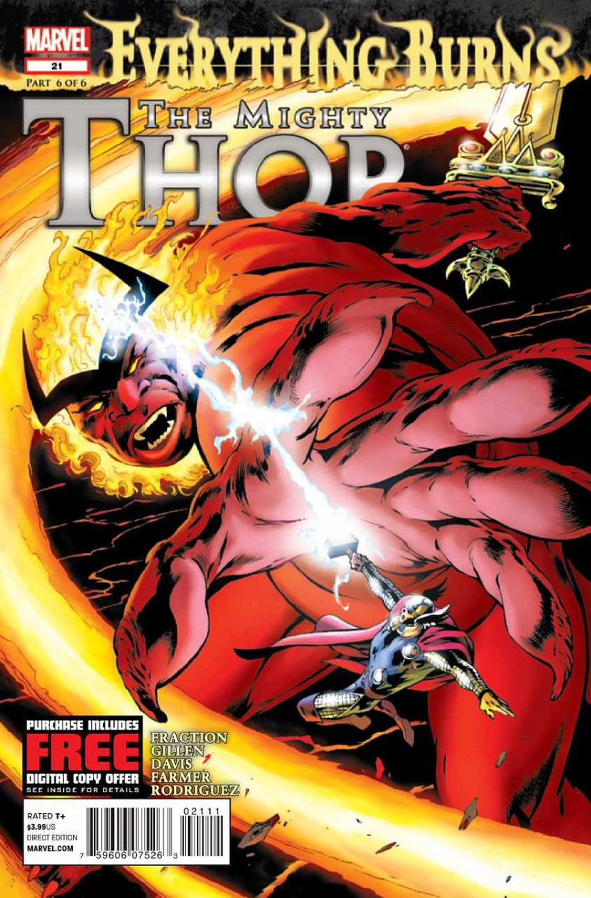 Couverture de Mighty Thor (The) (2011) -21- Everything Burns Part The Sixth