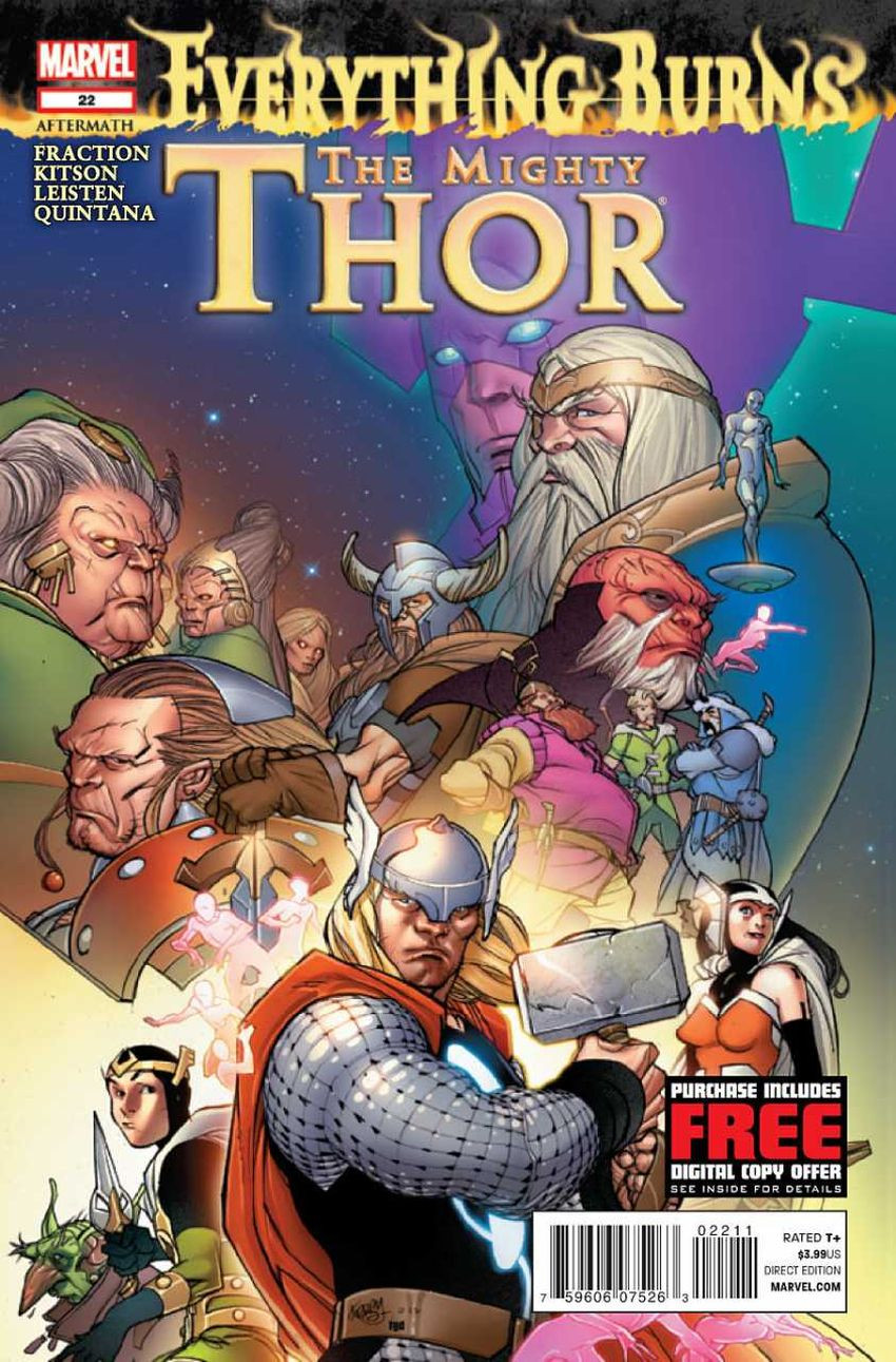 Couverture de Mighty Thor (The) (2011) -22- Everything Burns Aftermath