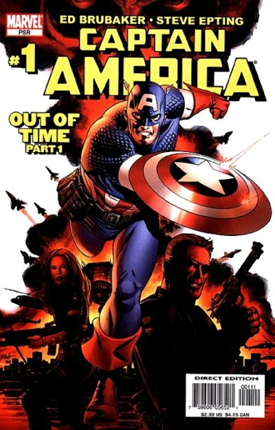 Couverture de Captain America (2005) -1- Out Of Time (Part 1)