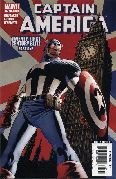 Couverture de Captain America (2005) -18- Twenty-First Century Blitz (Part 1)
