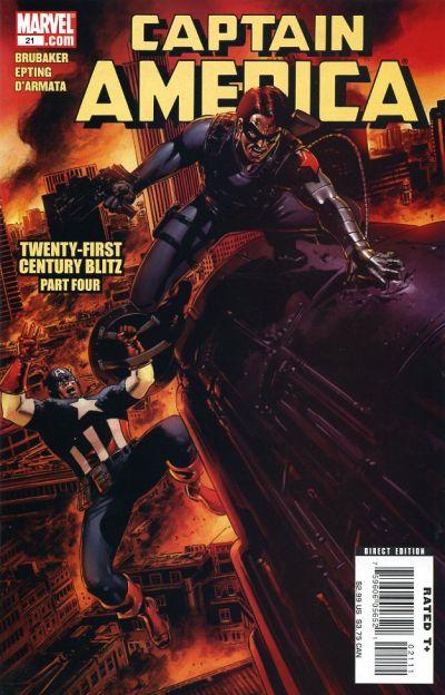 Couverture de Captain America (2005) -21- Twenty-First Century Blitz (Part 4)