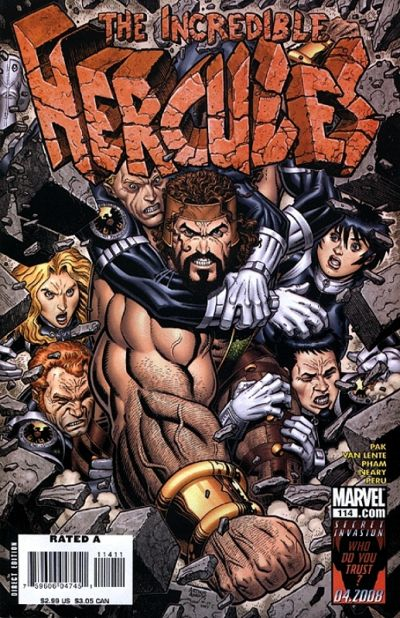 Couverture de The incredible Hercules (2008) -114- Walls of Troy