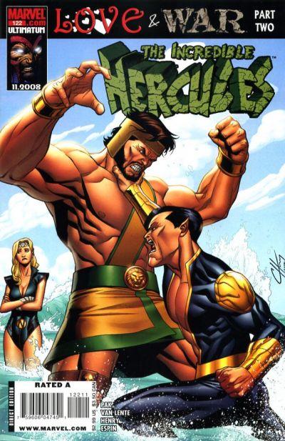 Couverture de The incredible Hercules (2008) -122- Love & War Part Two