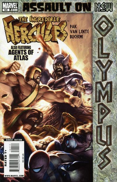 Couverture de The incredible Hercules (2008) -141- Assualt on New Olympus Finale