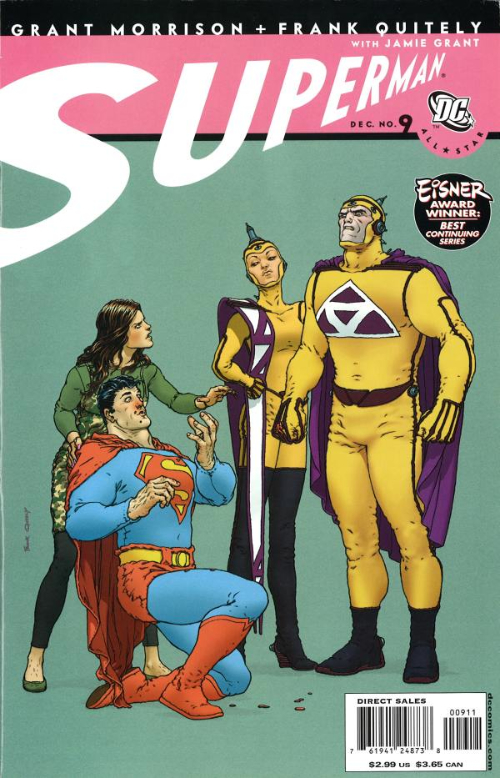 Couverture de All-Star Superman (2006) -9- Curse of the Replacement Supermen