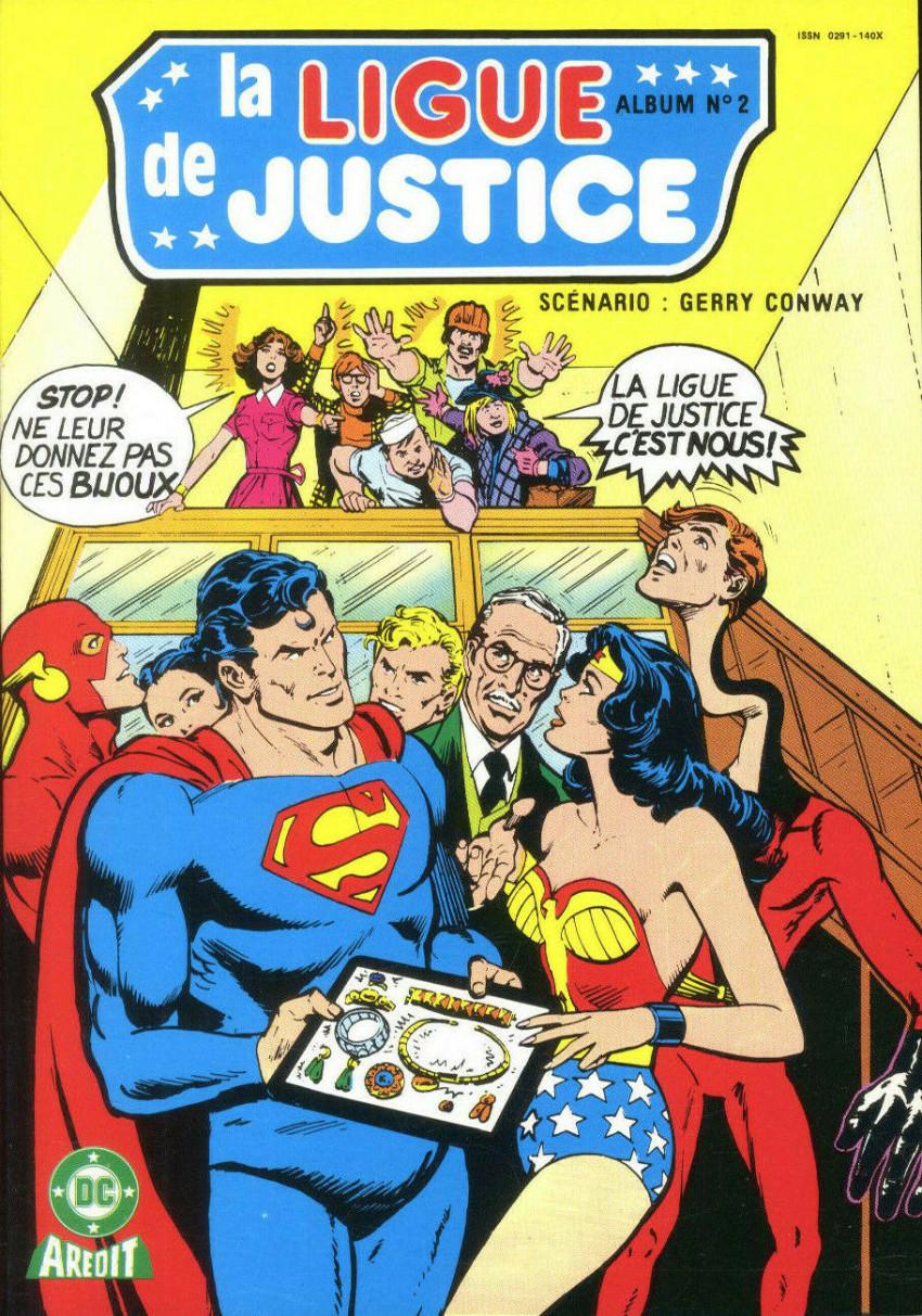 Couverture de La ligue de justice (1re série - Arédit - Artima Color DC Super Star puis Artima Color DC) -Rec02- Album N°2 (n°3 et n°4)