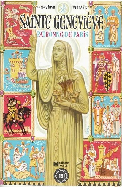 Couverture de Belles histoires et belles vies -19b- Sainte Geneviève, patronne de Paris