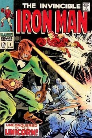 Couverture de Iron Man Vol.1 (Marvel comics - 1968) -4- Unconquered is the Unicorn !