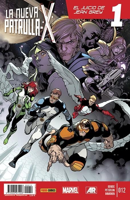 Couverture de La nueva Patrulla-X -12- Diferente, Parte 4. El juicio de Jean Grey Parte 1