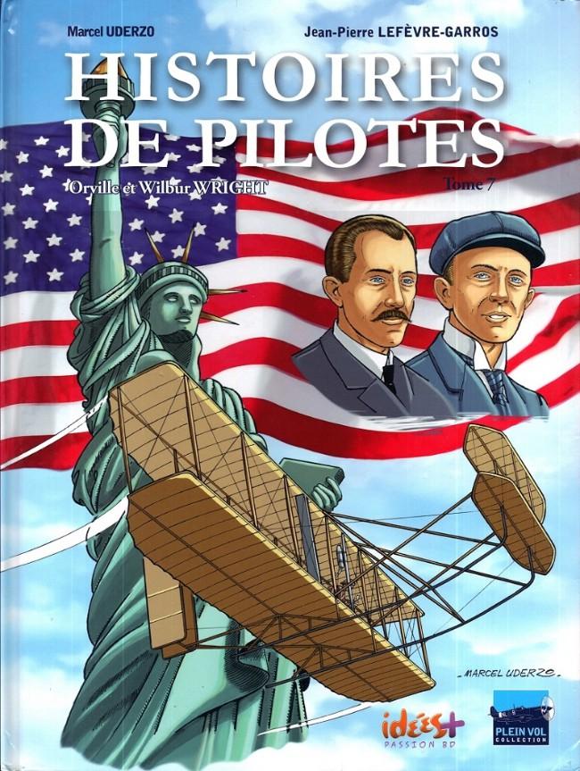 Couverture de Histoires de pilotes -7- Orville et Wilbur Wright