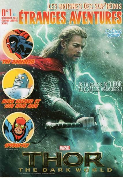 Couverture de Étranges aventures (3e Série - Organic Comix) -1- De la genèse de Thor aux salles obscures