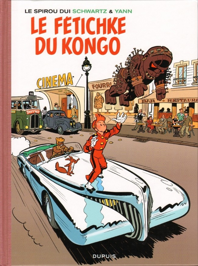 Couverture de Spirou et Fantasio (en langues régionales) -Brux- Le fétichke du Kongo