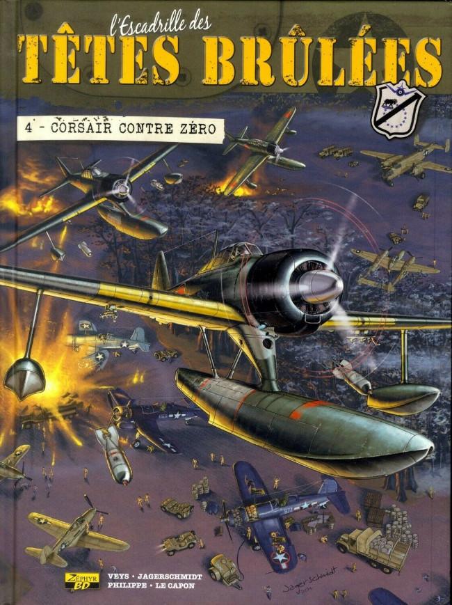 Couverture de L'escadrille des Têtes brûlées -4- Corsair contre Zéro