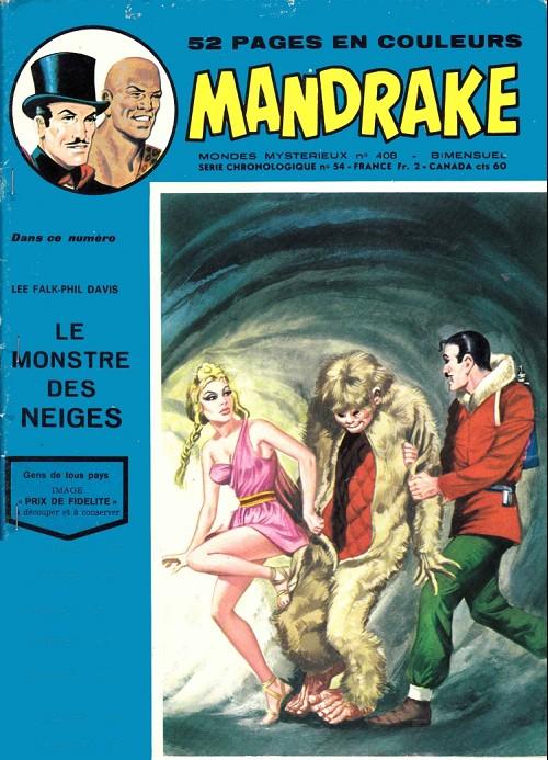 Couverture de Mandrake (1e Série - Remparts) (Mondes Mystérieux - 1) -408- Le monstre des neiges