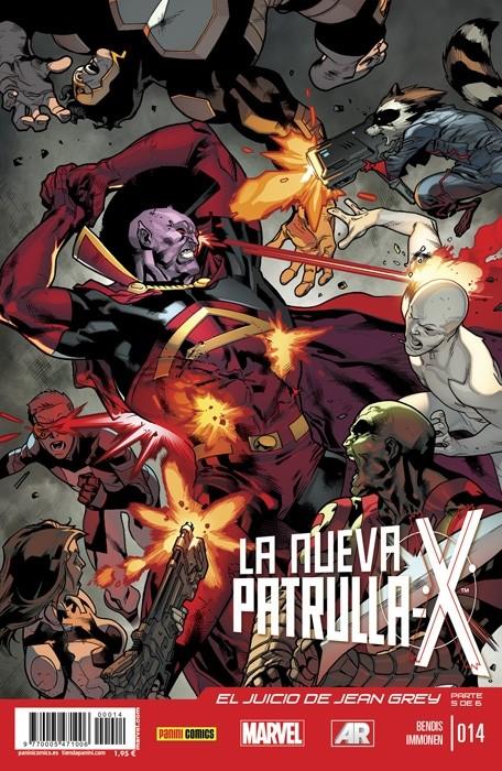 Couverture de La nueva Patrulla-X -14- El juicio de Jean Grey. Parte 5
