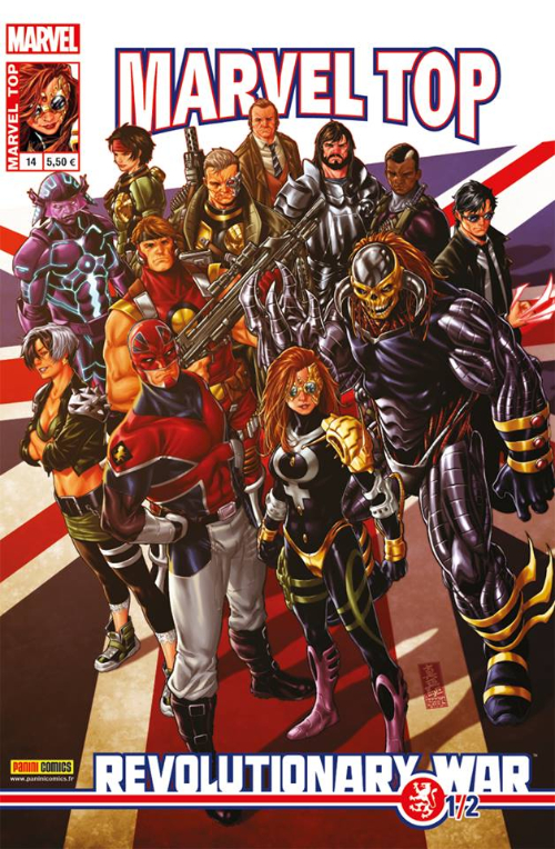 Couverture de Marvel Top (Marvel France 2e série) -14- Revolutionary war (1/2)