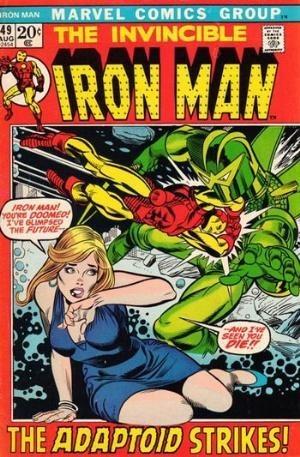 Couverture de Iron Man Vol.1 (Marvel comics - 1968) -49- There Lurks the Adaptoid !
