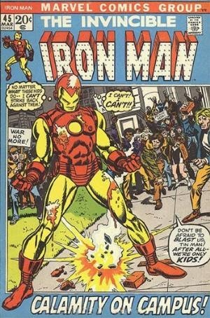 Couverture de Iron Man Vol.1 (Marvel comics - 1968) -45- Beneath the armor beats a heart !