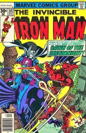 Couverture de Iron Man Vol.1 (Marvel comics - 1968) -102- Dreadknight and the daughter of creation