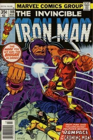 Couverture de Iron Man Vol.1 (Marvel comics - 1968) -108- Growing pains !