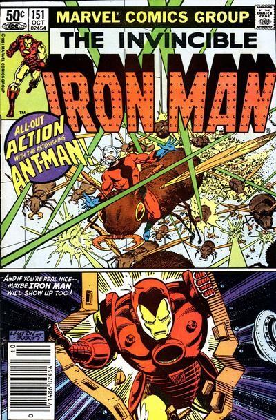 Couverture de Iron Man Vol.1 (Marvel comics - 1968) -151- G.A.R.D,'S Gauntlet