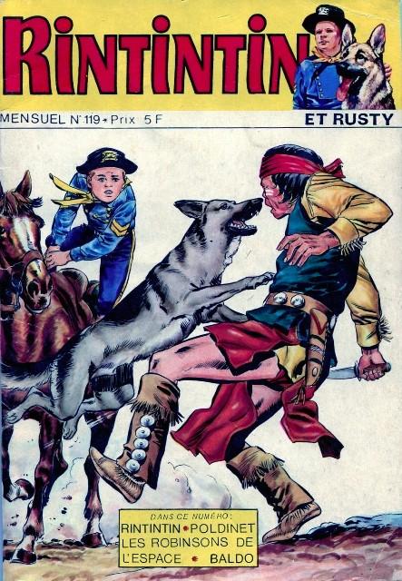 Couverture de Rin Tin Tin & Rusty (2e série) -119- Les diamants du Grand Manitou