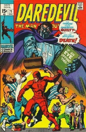 Couverture de Daredevil Vol. 1 (Marvel - 1964) -71- If an Eye Offend Thee...!