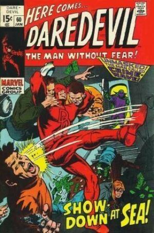 Couverture de Daredevil (1964) -60- Showdown at sea!
