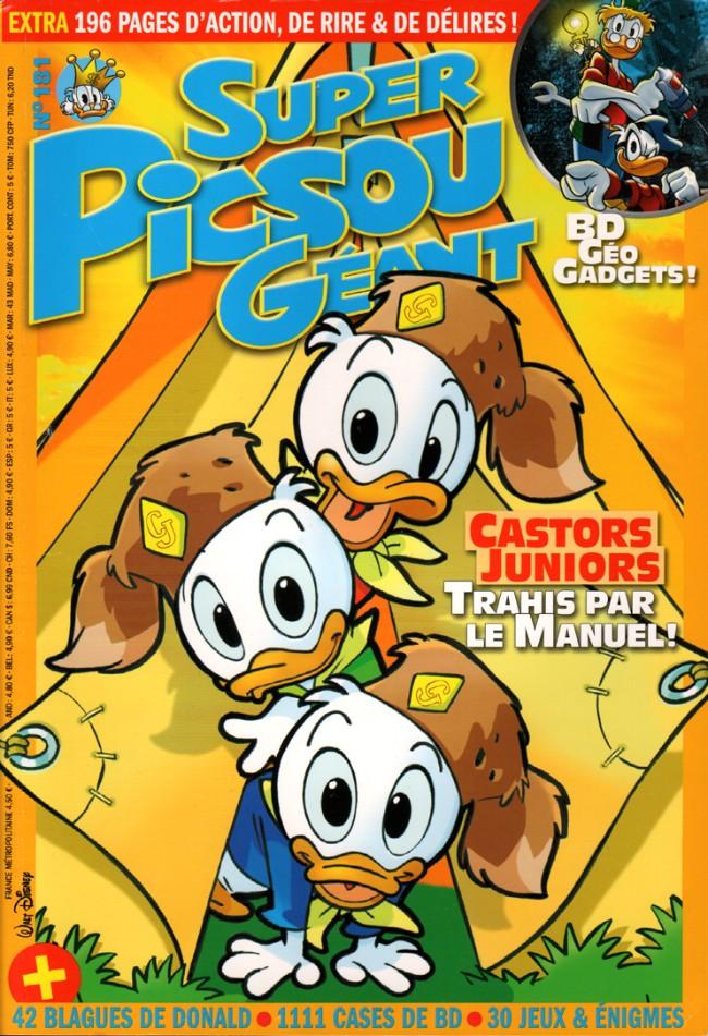 Couverture de Super Picsou Géant -181- Numéro 181 - Castors Juniors trahis par le manuel !