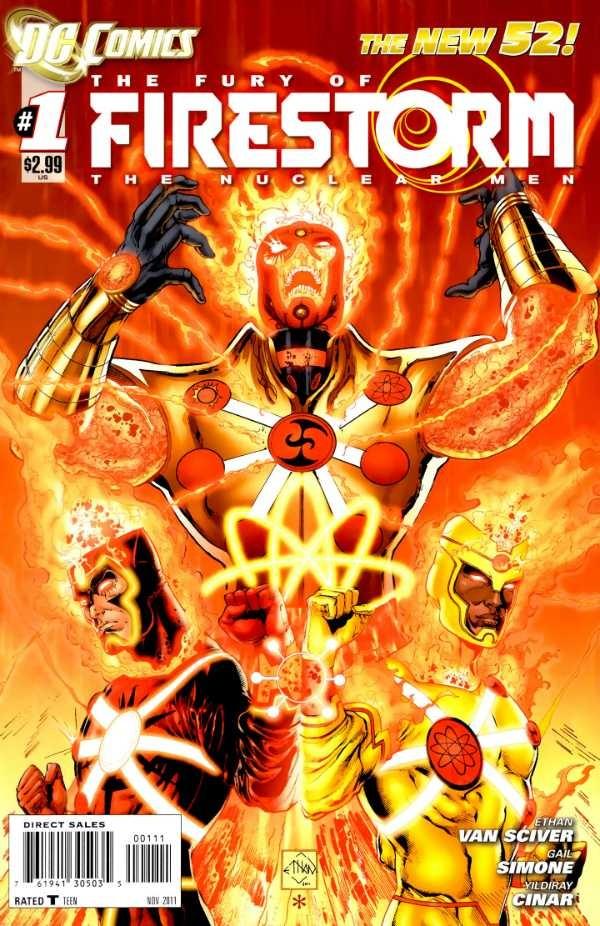 Couverture de Fury of Firestorm (The): The Nuclear Men (2011) -1- God particle