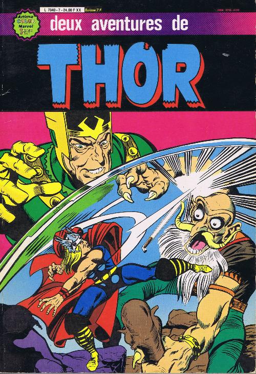 Couverture de Thor le fils d'Odin -Rec07- Album N°7 (n°22 et n°23)