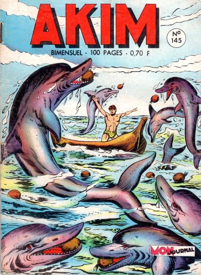 Couverture de Akim (1re série) -145- Les dauphins à la rescousse