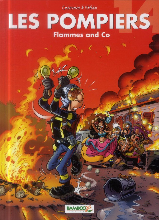 Couverture de Les pompiers -14- Flammes and Co