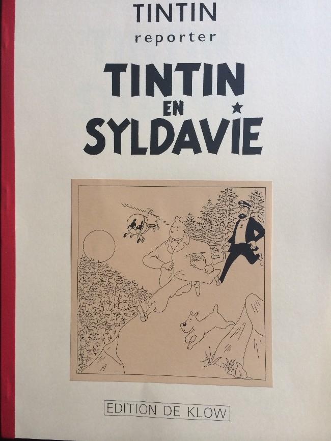 Couverture de Tintin - Pastiches, parodies & pirates - Tintin en Syldavie