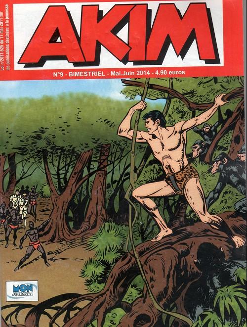 Couverture de Akim (3e série) -9- La révolte des simiotis