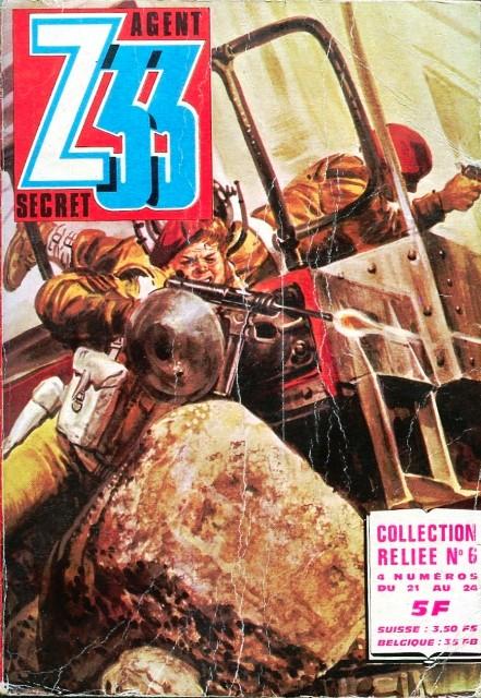 Couverture de Z33 agent secret -Rec06- Collection reliée N°6 (du n°21 au n°24)