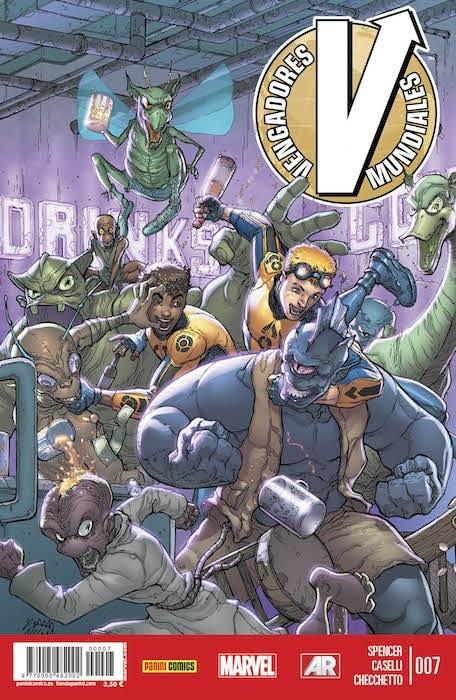 Couverture de Vengadores Mundiales -7- Ascensión. Partes 4 y 5