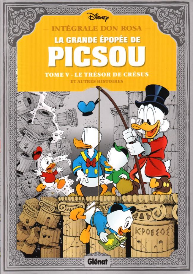 Couverture de La grande Épopée de Picsou -5- Tome V - Le Trésor de Crésus et autres histoires