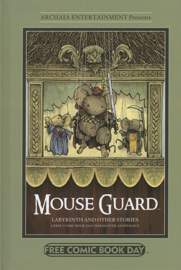 Couverture de Free Comic Book Day 2012 - Mouse Guard / Labyrinth and Other Stories: A Free Comic Book Day Hardcover Anthology