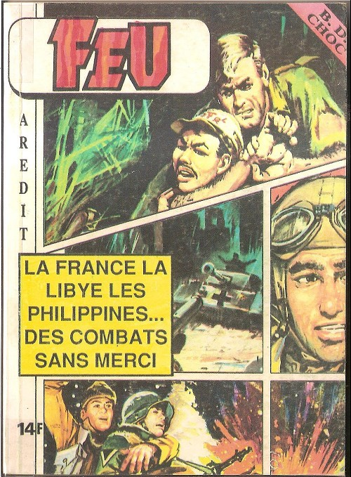 Couverture de Feu -Rec29- Recueil BD Choc N°1 (55, 56, 57, 58)