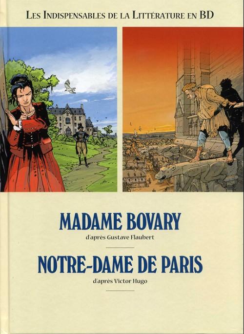 Couverture de Les indispensables de la Littérature en BD -FL07- Madame Bovary / Notre-Dame de Paris