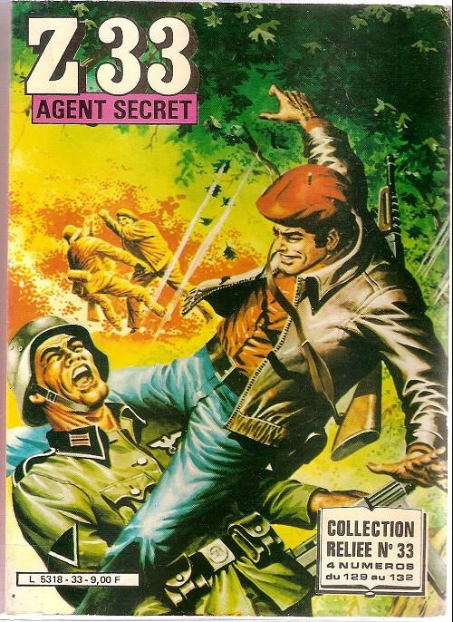 Couverture de Z33 agent secret -Rec33- Collection reliée N°33 (du n°129 au n°132)