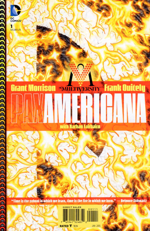 Couverture de The multiversity (2014) - Pax Americana : In Which We Burn