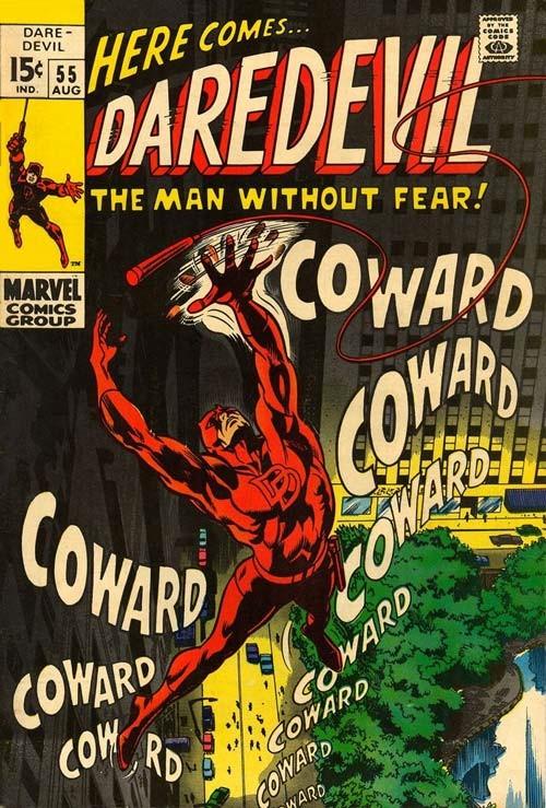 Couverture de Daredevil (1964) -55- Cry Coward!